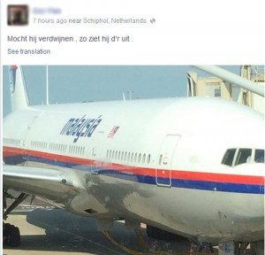 Passenger posts Malasian airlines MH17